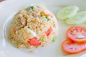 salted egg fried rice with pork