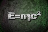 picture of einstein  - Albert Einsteins Physical Formula Concept text on background - JPG