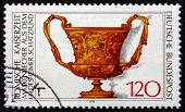 Postage Stamp Germany 1976 Roman Cup With Masks