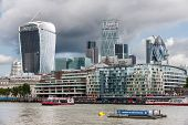 London -august 6: The City Of London On August 6, 2014 In London. The City Of London Is The Main Fin
