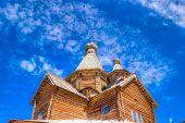 Museum  Wooden Architecture Vitoslavlitsy Village Street House Church Veliky Novgorod Russia