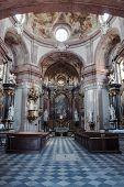 The interior of the church in Kromeriz