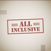 image of all-inclusive  - All inclusive stamp abstract vector illustration background - JPG