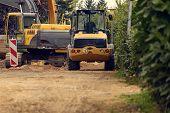 Variety Of Construction Heavy Machinery