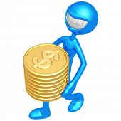 Smiling With Gold Dollar Coins