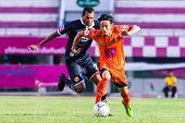Sisaket Thailand-september 21: Terukazu Tanaka Of Sisaket Fc. In Action During Friendly Match Betwee