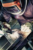 Welder to weld aluminum materials.
