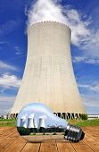foto of reactor  - Nuclear power plant in bulb - JPG