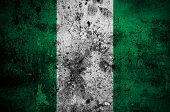 Grunge Flag Of Nigeria With Capital In Abuja