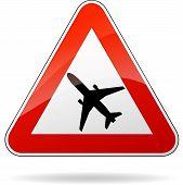 Beware Airplane Sign