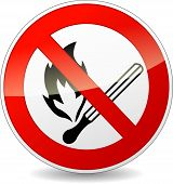 picture of lucifer  - illustration of no flame red and white sign - JPG