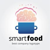 Abstract vector smart food logotype concept isolated on white background