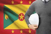 Architect With Flag On Background  - Grenada