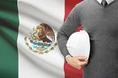 Architect With Flag On Background  - Mexico