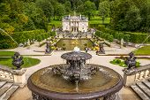 Linderhof Palace With Fountains