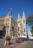 Rathaus (City Hall) In Vienna, Austria.