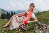 Traditional Dirndl Fashion Portrait