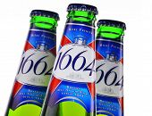 Bottle Of Kronenbourg 1664 Beer Isolated On White