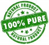 100 pure natural stamp