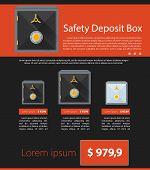 Flat vector minimalist template business design. Safe deposit.