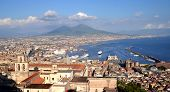 Picturesque summer panorama of Naples and Vesuvius, Italy