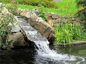 Stream Of Water Running Over Rocks