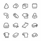 pic of tissue box  - Simple Set of Towels and Napkins Related Vector Icons for Your Design - JPG