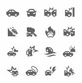 picture of car symbol  - Simple Set of Car Crashes Related Vector Icons for Your Design - JPG