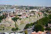 Panoramic View Of Old Tbilisi , View From Narikala Fortress.tiflis Is The Capital