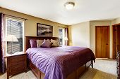 stock photo of master bedroom  - Master bedroom interior - JPG