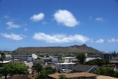 Diamond Head And Town Area