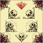 Skull and Rose Frames set 01