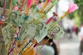 Bank Note In Buddhism Charity