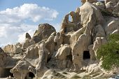 stock photo of goreme  - Rock formantions in Goreme National Park - JPG