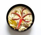 Famous Thai Food Spicy Coconut Cream Soup With Chicken