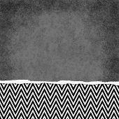 Square Black And White Zigzag Chevron Torn Grunge Textured Background