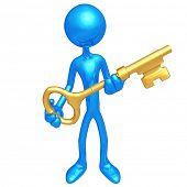 Holding The Golden key