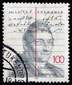 Postage Stamp Germany 1989 Franz Xaver Gabelsberger