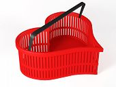 Shopping Basket In The Shape Of Heart