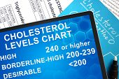 cholesterol levels chart