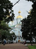 San Nicolas Cathedral in St. Petersburg (Russia )