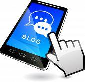 Blog On Mobile Phone