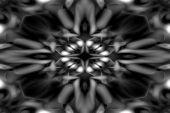 Black And White Kaleidoscope Pattern