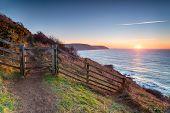 Lantivet Bay On The Cornwall Coast