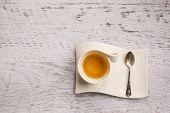 Top View Of Cup Of Tea