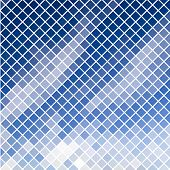 Blue diagonal mosaic in sky effect