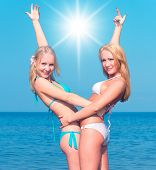 picture of denude  - Couple Enjoying In Bikini  - JPG