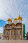 Russia. Moscow. Assumption Cathedral of the Kremlin - Orthodox Church, situated on Patriarchal Cated