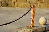 Pole and chain