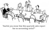 picture of leader  - Cartoon of business leader asking accountant - JPG